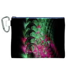 Pink And Green Shapes Make A Pretty Fractal Image Canvas Cosmetic Bag (XL)