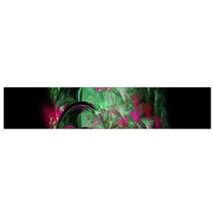 Pink And Green Shapes Make A Pretty Fractal Image Flano Scarf (Small)