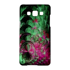 Pink And Green Shapes Make A Pretty Fractal Image Samsung Galaxy A5 Hardshell Case
