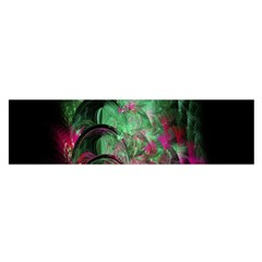 Pink And Green Shapes Make A Pretty Fractal Image Satin Scarf (oblong)