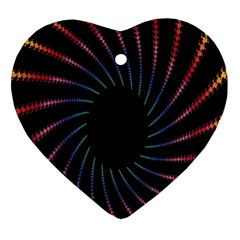 Fractal Black Hole Computer Digital Graphic Ornament (heart)