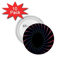 Fractal Black Hole Computer Digital Graphic 1.75  Buttons (10 pack)
