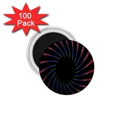 Fractal Black Hole Computer Digital Graphic 1 75  Magnets (100 Pack)