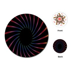 Fractal Black Hole Computer Digital Graphic Playing Cards (Round)
