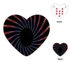 Fractal Black Hole Computer Digital Graphic Playing Cards (heart)