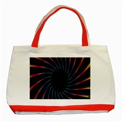 Fractal Black Hole Computer Digital Graphic Classic Tote Bag (Red)