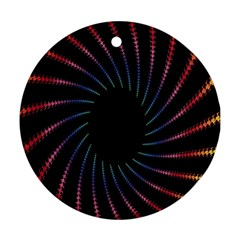 Fractal Black Hole Computer Digital Graphic Round Ornament (two Sides)