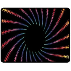 Fractal Black Hole Computer Digital Graphic Fleece Blanket (medium)
