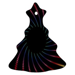 Fractal Black Hole Computer Digital Graphic Christmas Tree Ornament (two Sides)