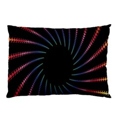 Fractal Black Hole Computer Digital Graphic Pillow Case (Two Sides)