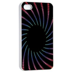 Fractal Black Hole Computer Digital Graphic Apple iPhone 4/4s Seamless Case (White)