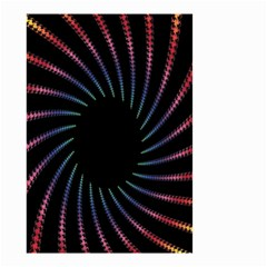Fractal Black Hole Computer Digital Graphic Small Garden Flag (two Sides)