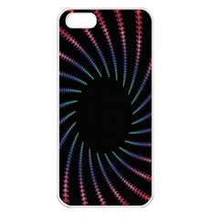Fractal Black Hole Computer Digital Graphic Apple iPhone 5 Seamless Case (White)