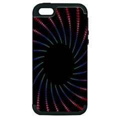 Fractal Black Hole Computer Digital Graphic Apple iPhone 5 Hardshell Case (PC+Silicone)