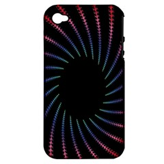 Fractal Black Hole Computer Digital Graphic Apple iPhone 4/4S Hardshell Case (PC+Silicone)