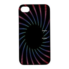 Fractal Black Hole Computer Digital Graphic Apple iPhone 4/4S Hardshell Case with Stand