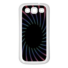 Fractal Black Hole Computer Digital Graphic Samsung Galaxy S3 Back Case (White)