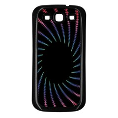 Fractal Black Hole Computer Digital Graphic Samsung Galaxy S3 Back Case (Black)