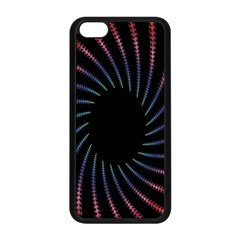 Fractal Black Hole Computer Digital Graphic Apple iPhone 5C Seamless Case (Black)
