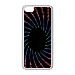 Fractal Black Hole Computer Digital Graphic Apple iPhone 5C Seamless Case (White)