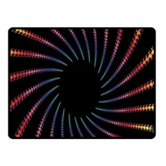 Fractal Black Hole Computer Digital Graphic Double Sided Fleece Blanket (Small)