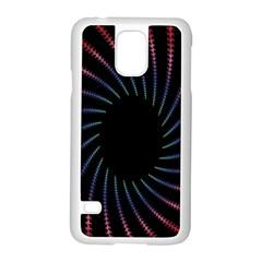 Fractal Black Hole Computer Digital Graphic Samsung Galaxy S5 Case (White)