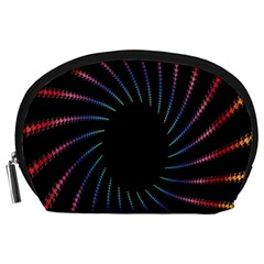 Fractal Black Hole Computer Digital Graphic Accessory Pouches (Large)