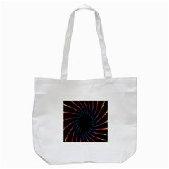 Fractal Black Hole Computer Digital Graphic Tote Bag (White)