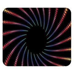 Fractal Black Hole Computer Digital Graphic Double Sided Flano Blanket (Small)