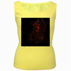 July 4th Fireworks Party Women s Yellow Tank Top