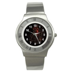 July 4th Fireworks Party Stainless Steel Watch