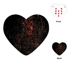 July 4th Fireworks Party Playing Cards (heart)