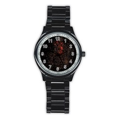 July 4th Fireworks Party Stainless Steel Round Watch