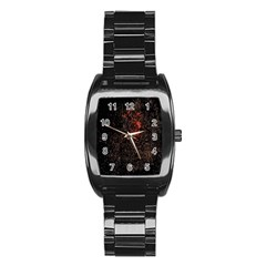 July 4th Fireworks Party Stainless Steel Barrel Watch