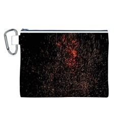 July 4th Fireworks Party Canvas Cosmetic Bag (L)