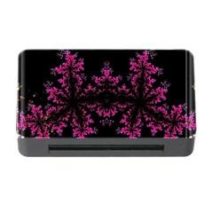 Violet Fractal On Black Background In 3d Glass Frame Memory Card Reader with CF