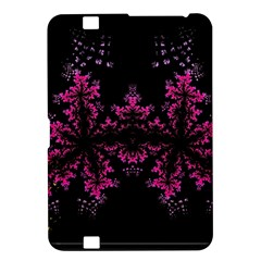 Violet Fractal On Black Background In 3d Glass Frame Kindle Fire HD 8.9