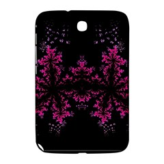 Violet Fractal On Black Background In 3d Glass Frame Samsung Galaxy Note 8.0 N5100 Hardshell Case
