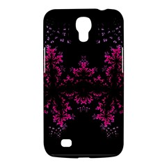 Violet Fractal On Black Background In 3d Glass Frame Samsung Galaxy Mega 6.3  I9200 Hardshell Case