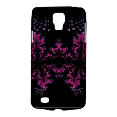 Violet Fractal On Black Background In 3d Glass Frame Galaxy S4 Active