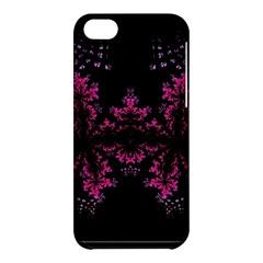 Violet Fractal On Black Background In 3d Glass Frame Apple Iphone 5c Hardshell Case