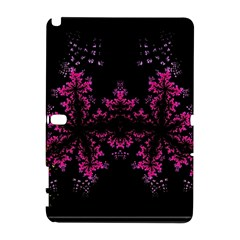 Violet Fractal On Black Background In 3d Glass Frame Galaxy Note 1
