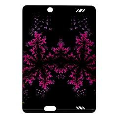 Violet Fractal On Black Background In 3d Glass Frame Amazon Kindle Fire HD (2013) Hardshell Case