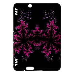 Violet Fractal On Black Background In 3d Glass Frame Kindle Fire HDX Hardshell Case