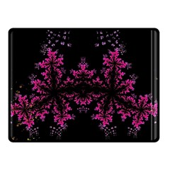 Violet Fractal On Black Background In 3d Glass Frame Double Sided Fleece Blanket (Small)