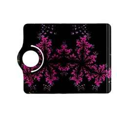 Violet Fractal On Black Background In 3d Glass Frame Kindle Fire HD (2013) Flip 360 Case