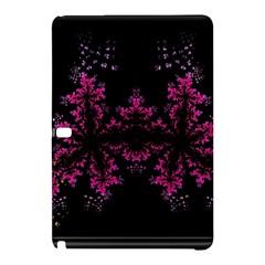 Violet Fractal On Black Background In 3d Glass Frame Samsung Galaxy Tab Pro 10 1 Hardshell Case