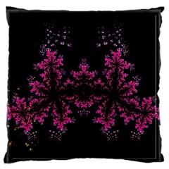 Violet Fractal On Black Background In 3d Glass Frame Standard Flano Cushion Case (one Side)