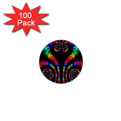 Fractal Drawing Of Phoenix Spirals 1  Mini Buttons (100 Pack)