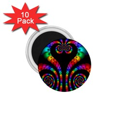 Fractal Drawing Of Phoenix Spirals 1 75  Magnets (10 Pack)